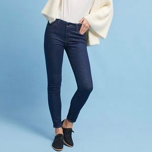 Anthropologie | Mid Rise Skinny jeans dark wash
